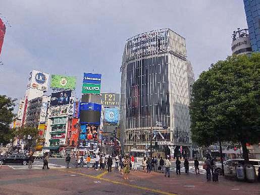 午前7時30分の渋谷駅前写真