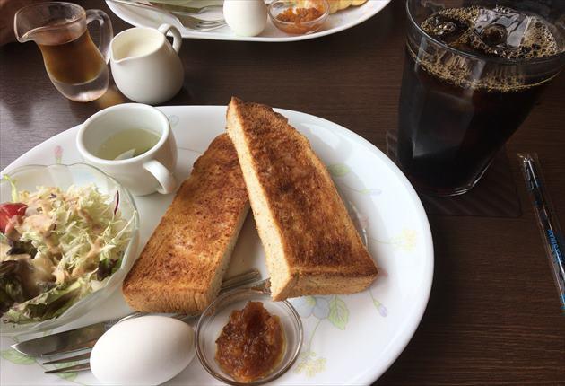 7月25日の喫茶店モーニングセット