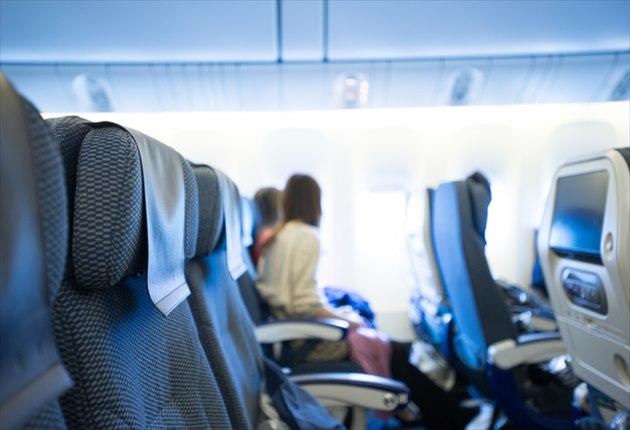 航空機 座席の写真