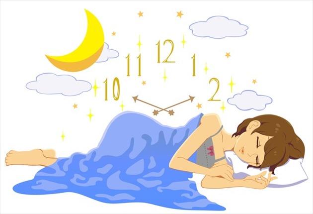 シンデレラタイムに眠る女性